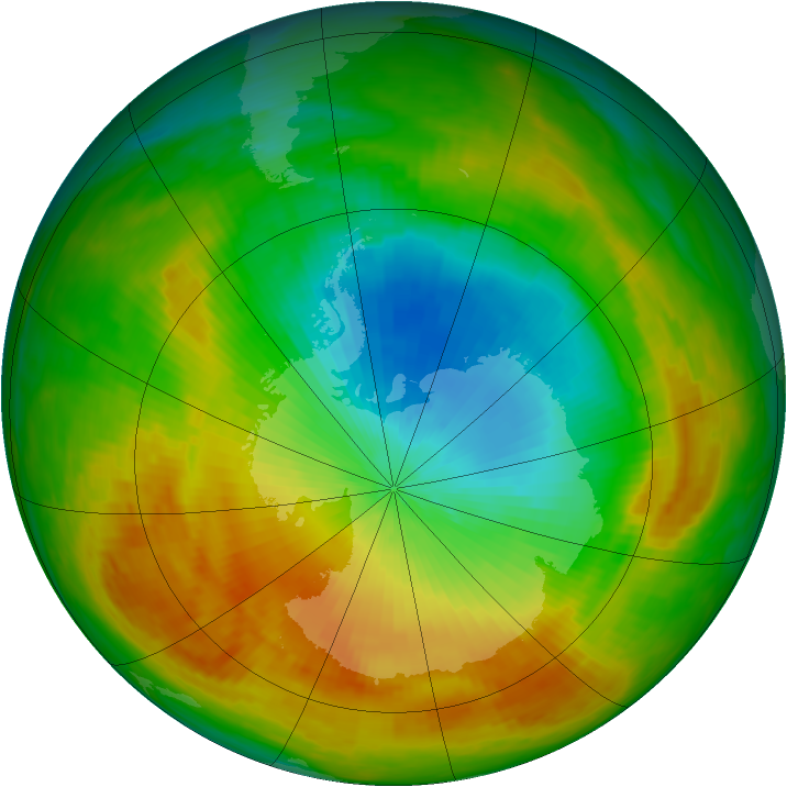 Antarctic ozone map for 04 November 1988