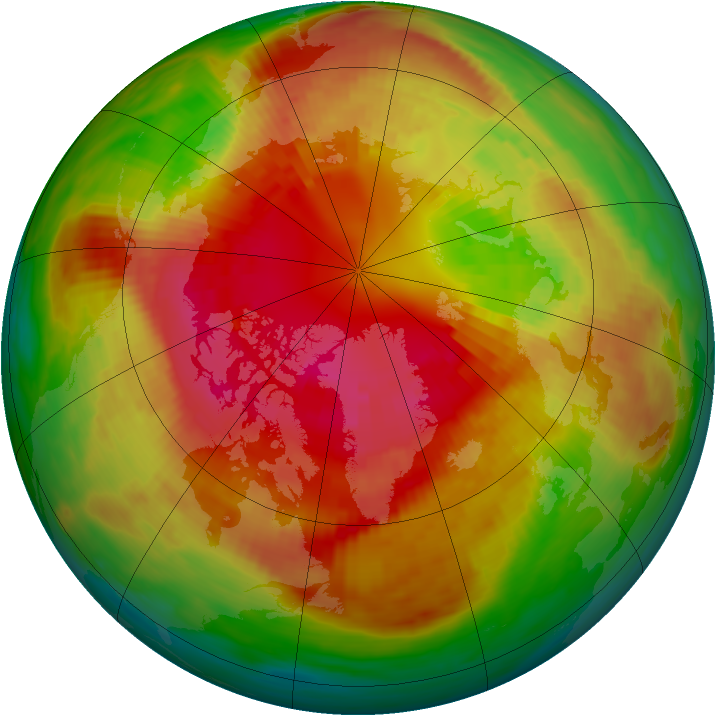 Arctic ozone map for 04 March 1989