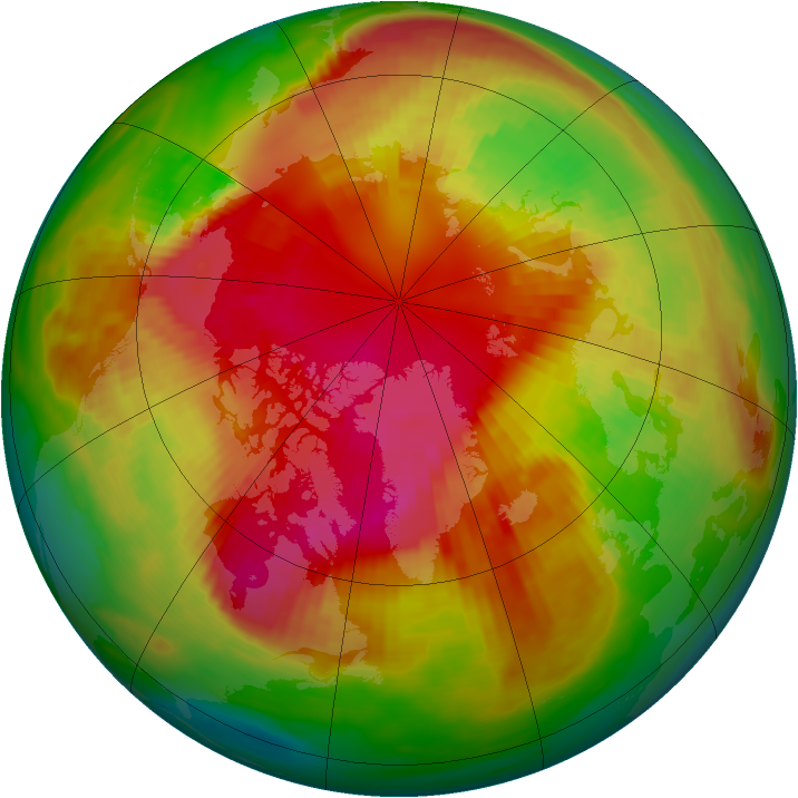 Arctic ozone map for 06 March 1989