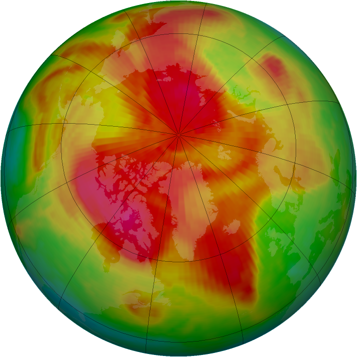 Arctic ozone map for 26 March 1989