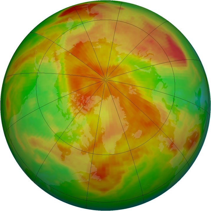 Arctic ozone map for 29 April 1989