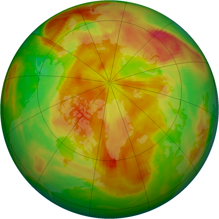 Arctic ozone map for 01 May 1989