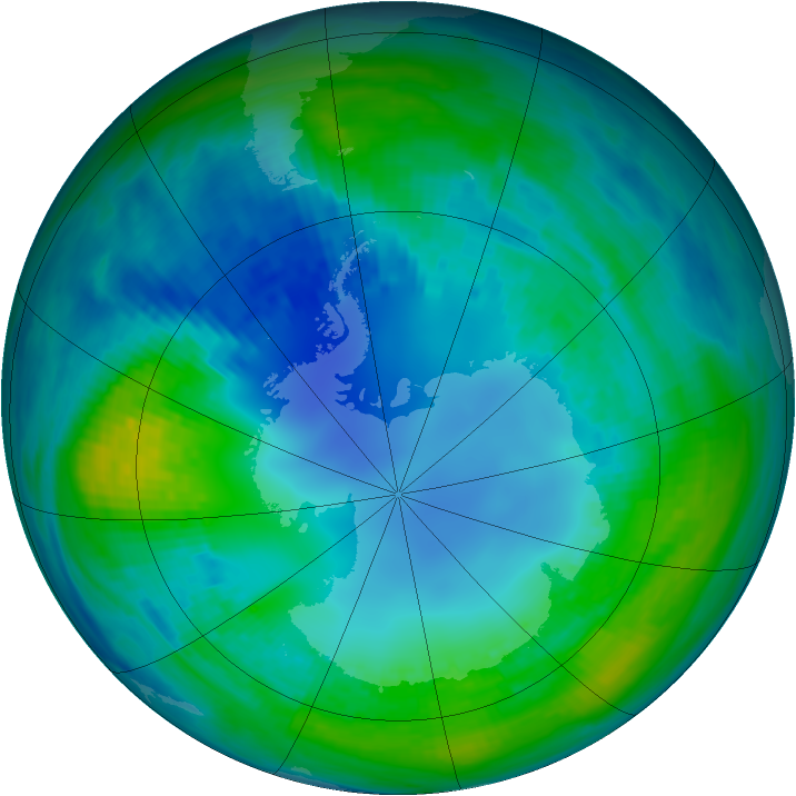 Antarctic ozone map for 02 May 1989