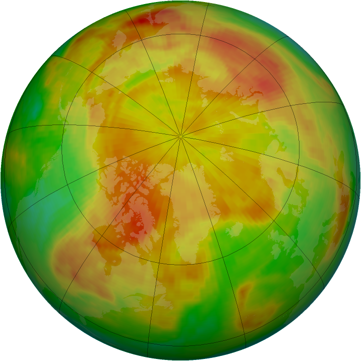 Arctic ozone map for 05 May 1989