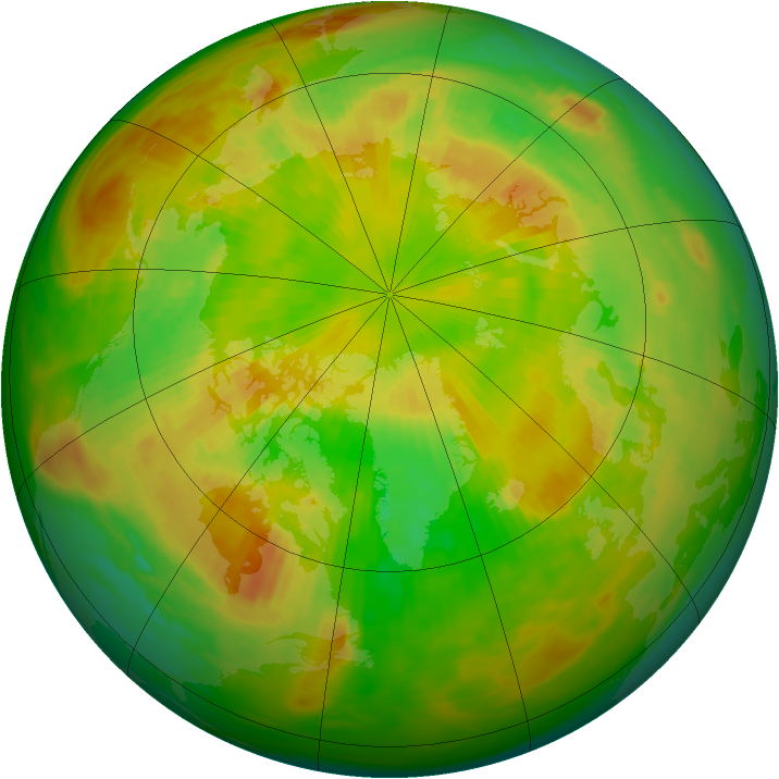 Arctic ozone map for 29 May 1989