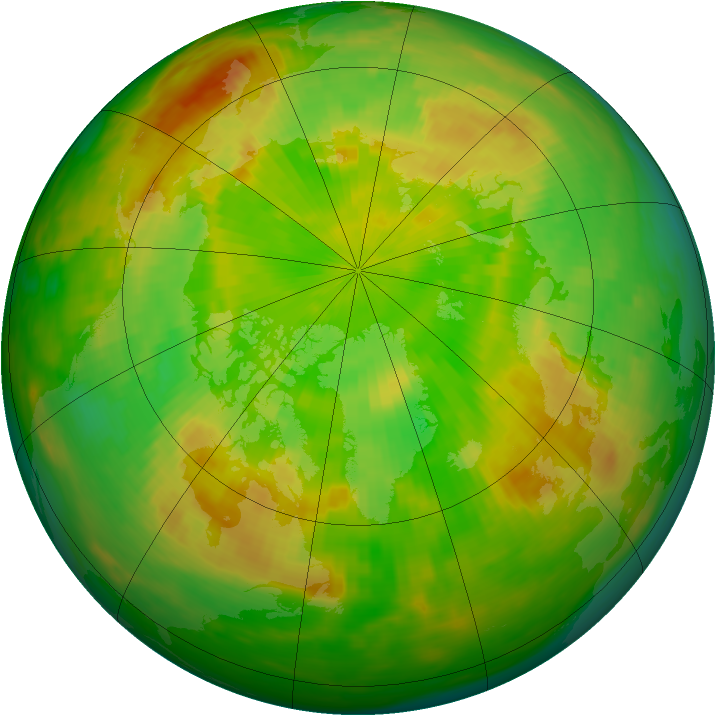 Arctic ozone map for 05 June 1989