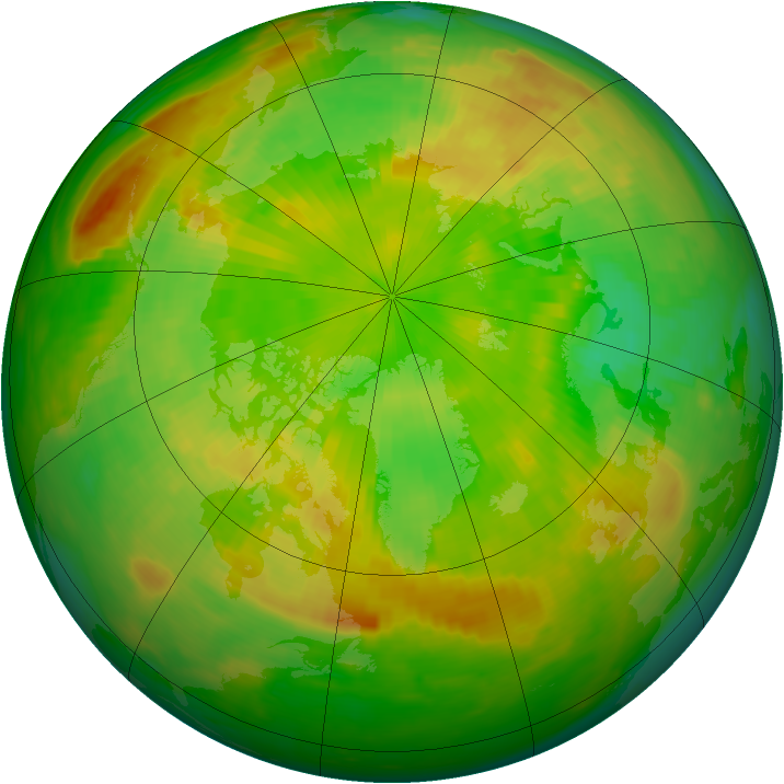Arctic ozone map for 08 June 1989