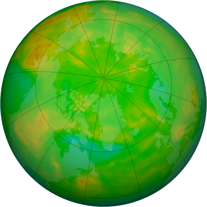 Arctic ozone map for 23 June 1989