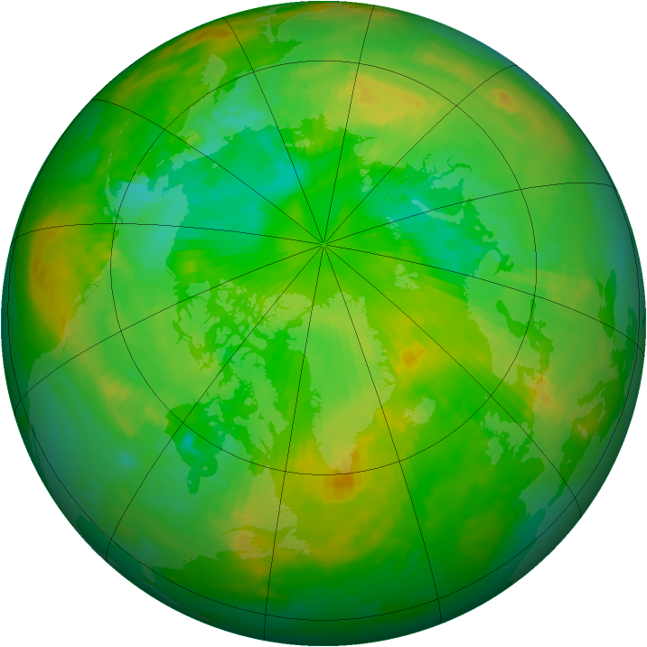 Arctic ozone map for 02 July 1989