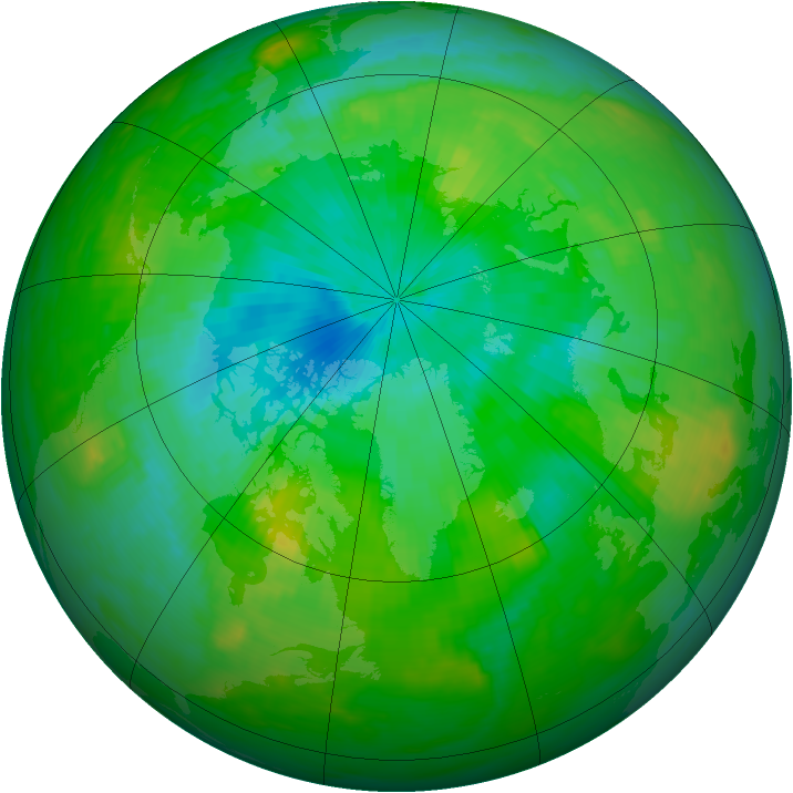 Arctic ozone map for 02 August 1989