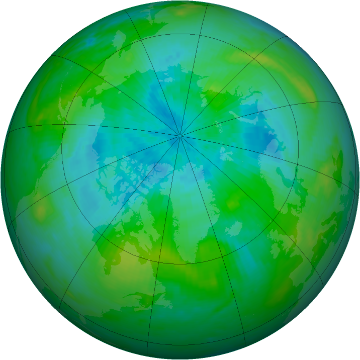 Arctic ozone map for 02 September 1989