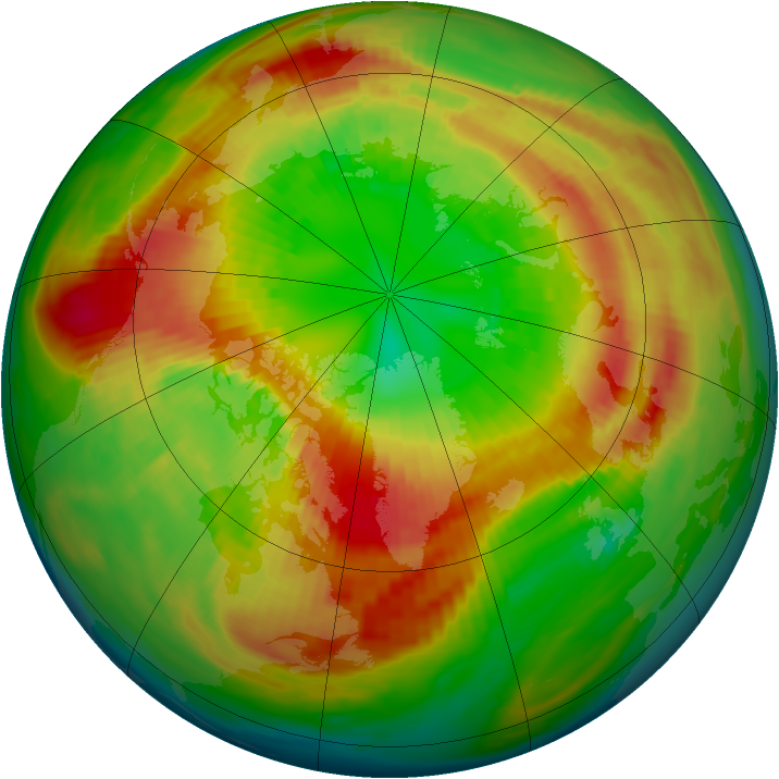 Arctic ozone map for 06 March 1990