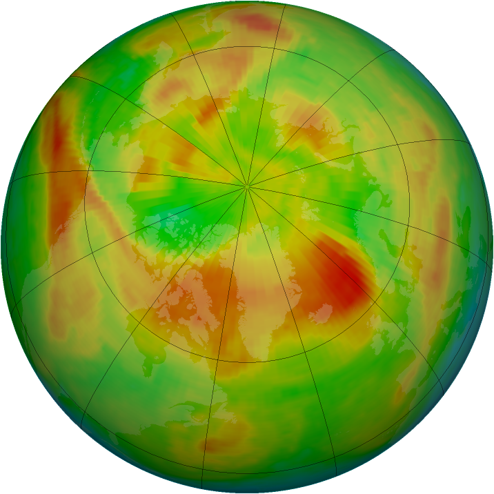 Arctic ozone map for 26 April 1990