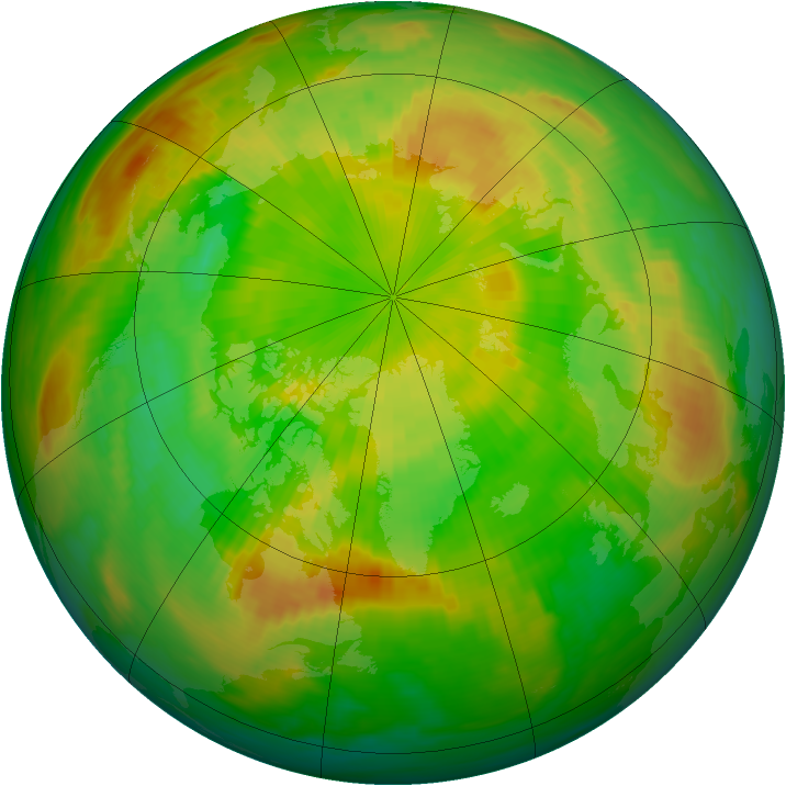 Arctic ozone map for 30 May 1990