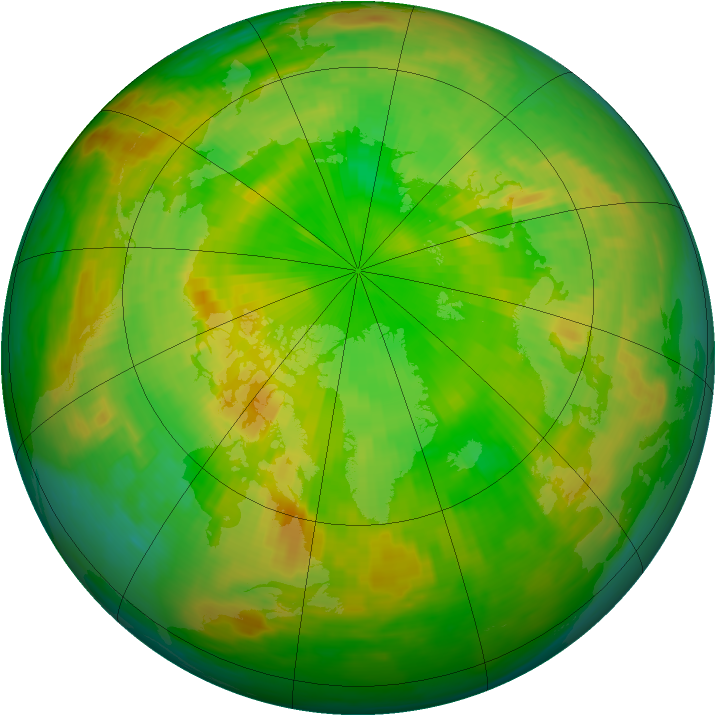 Arctic ozone map for 11 June 1990