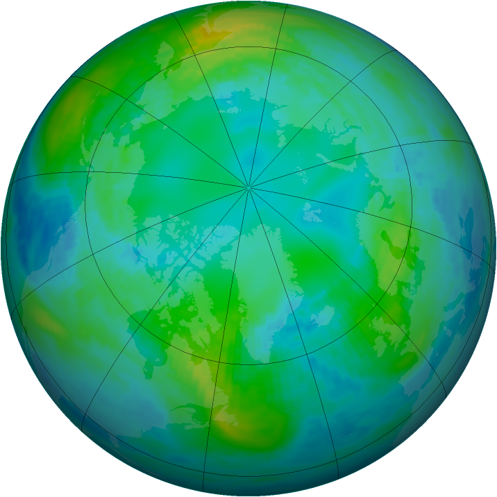 Arctic ozone map for 02 November 1990
