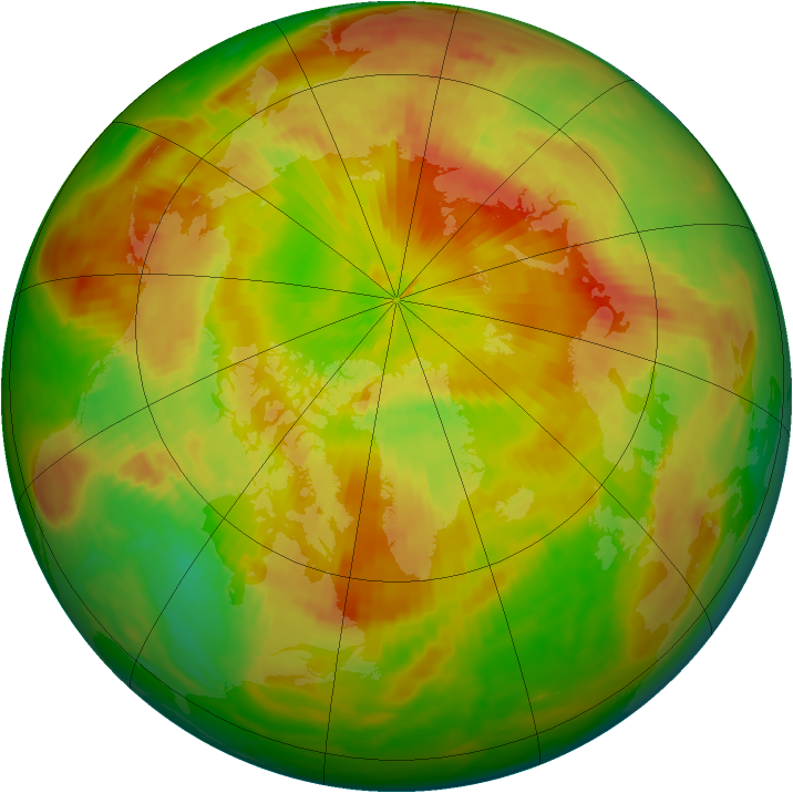 Arctic ozone map for 10 May 1991