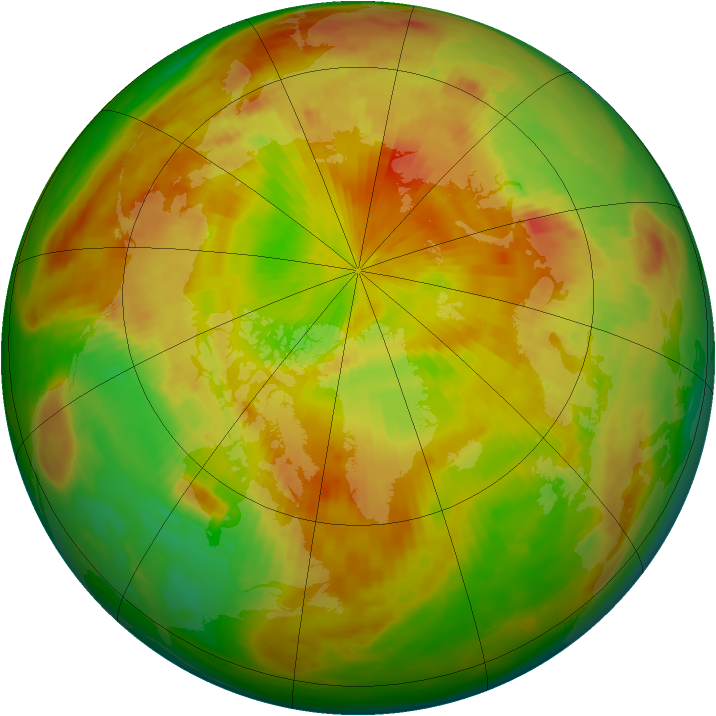 Arctic ozone map for 11 May 1991