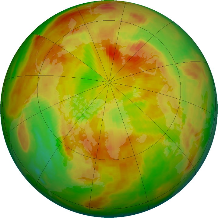 Arctic ozone map for 12 May 1991