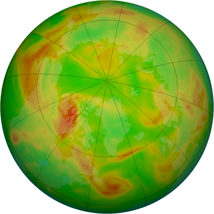 Arctic ozone map for 31 May 1991