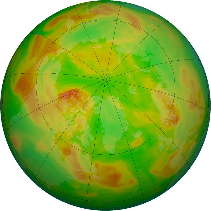 Arctic ozone map for 01 June 1991