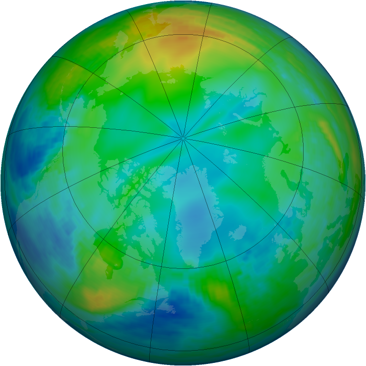 Arctic ozone map for 04 December 1991
