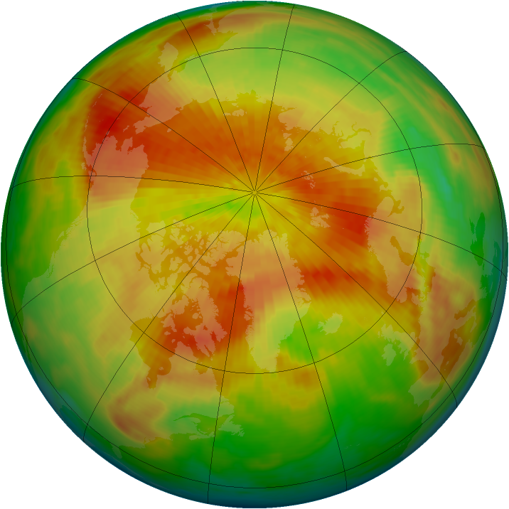Arctic ozone map for 27 March 1992