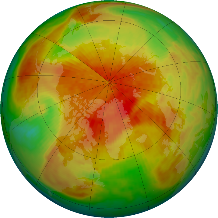 Arctic ozone map for 03 April 1992
