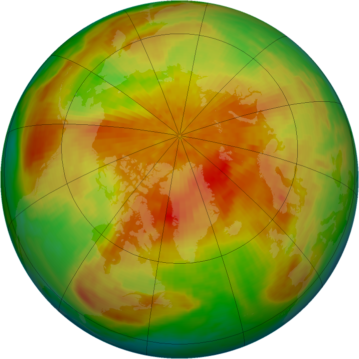 Arctic ozone map for 04 April 1992