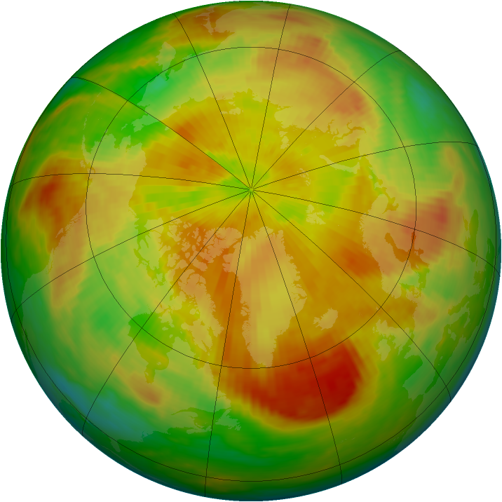 Arctic ozone map for 23 April 1992