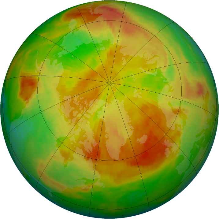 Arctic ozone map for 26 April 1992