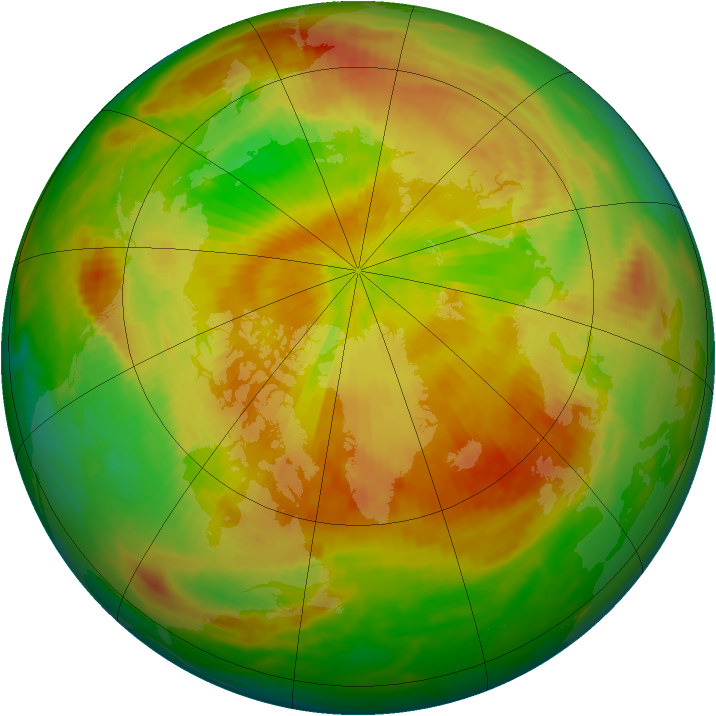 Arctic ozone map for 27 April 1992