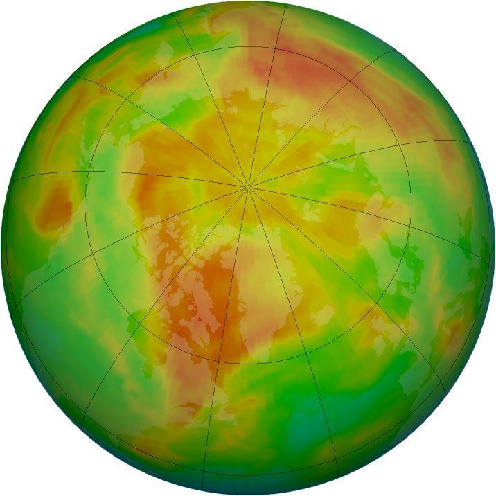 Arctic ozone map for 01 May 1992