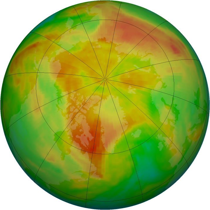 Arctic ozone map for 02 May 1992