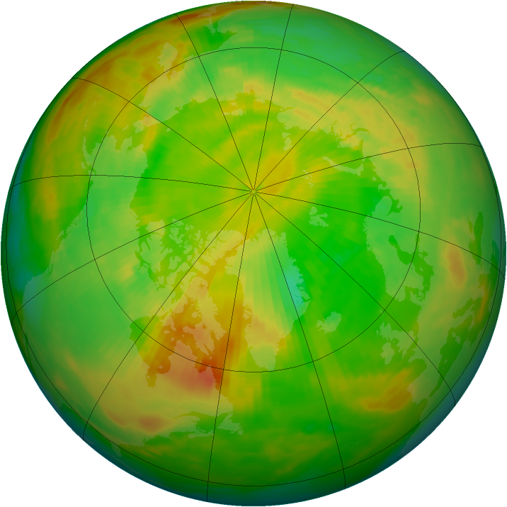 Arctic ozone map for 27 May 1992