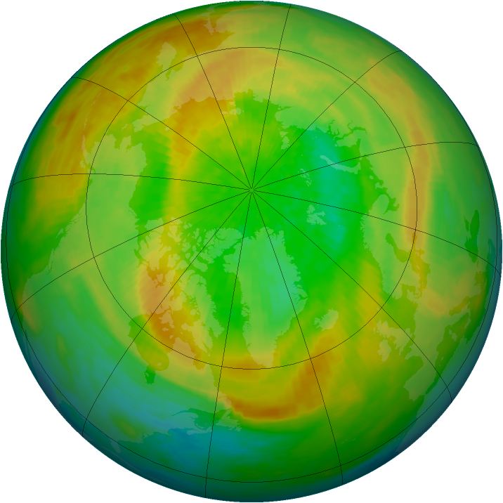 Arctic ozone map for 28 March 1993