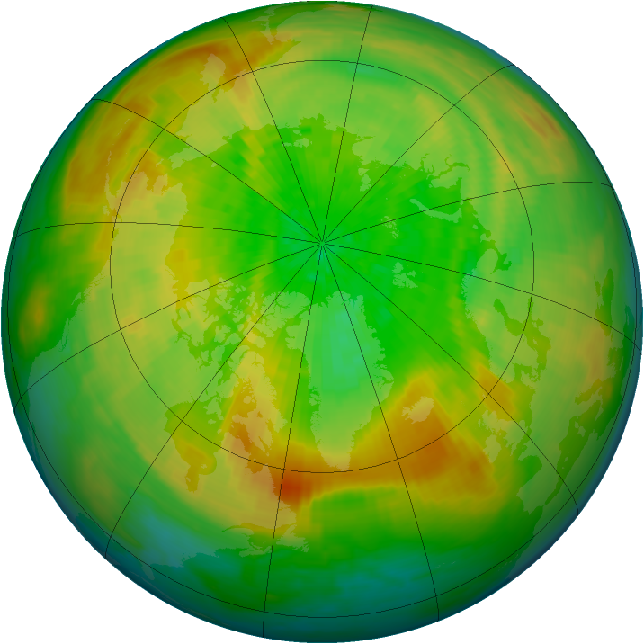 Arctic ozone map for 31 March 1993