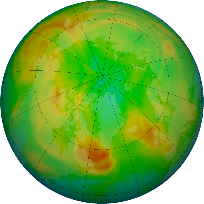 Arctic ozone map for 01 April 1993