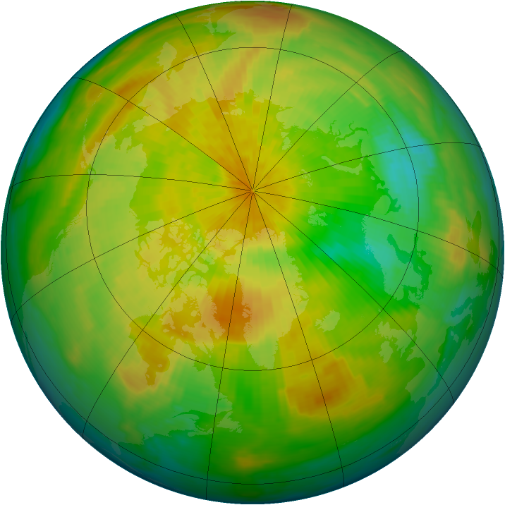 Arctic ozone map for 10 April 1993