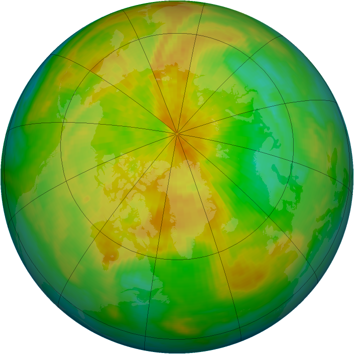 Arctic ozone map for 11 April 1993