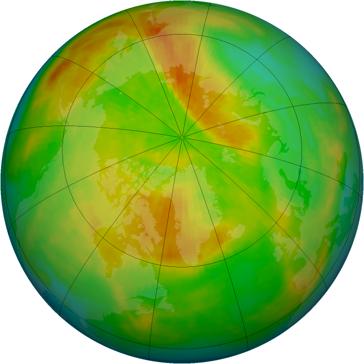 Arctic ozone map for 14 April 1993
