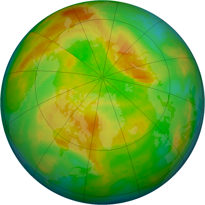 Arctic ozone map for 16 April 1993