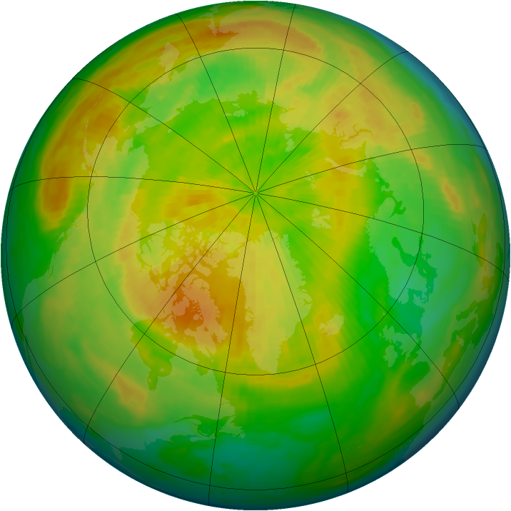 Arctic ozone map for 30 April 1993