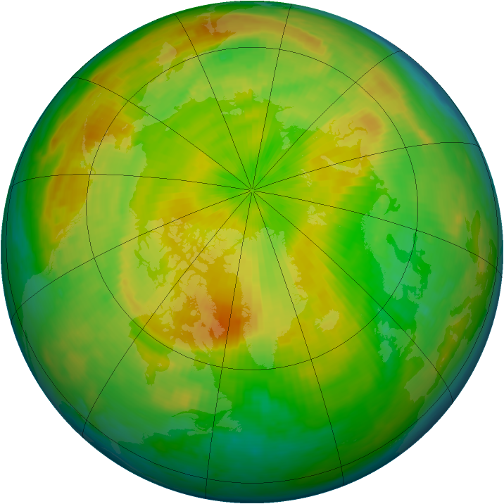Arctic ozone map for 01 May 1993