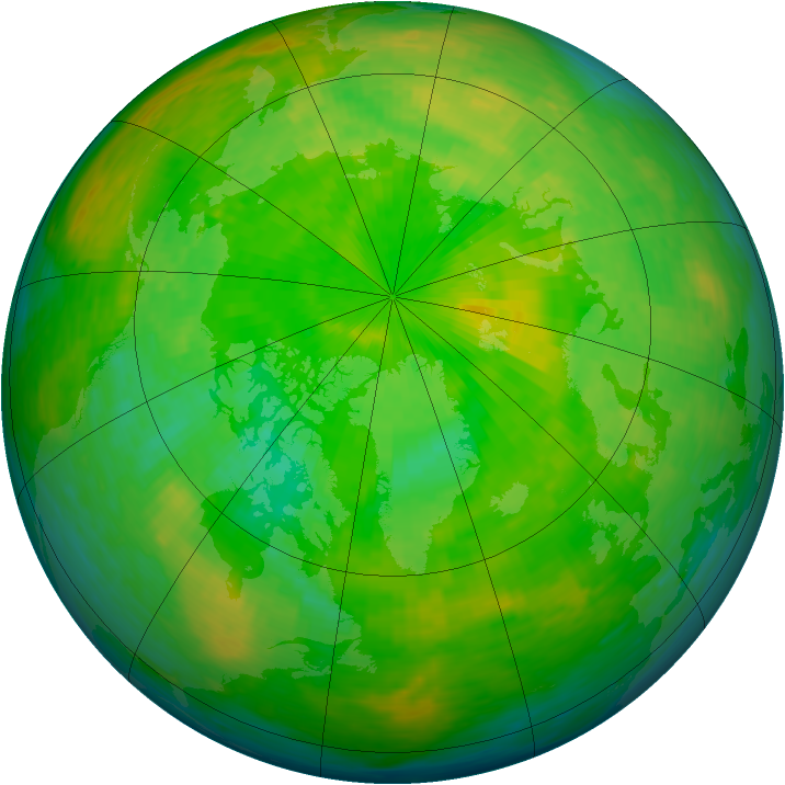 Arctic ozone map for 01 June 1993