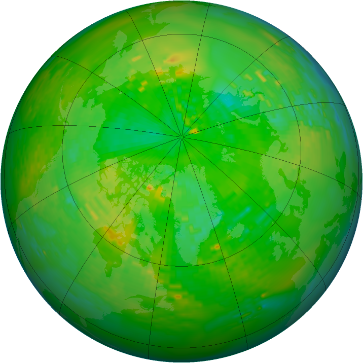 Arctic ozone map for 10 June 1993