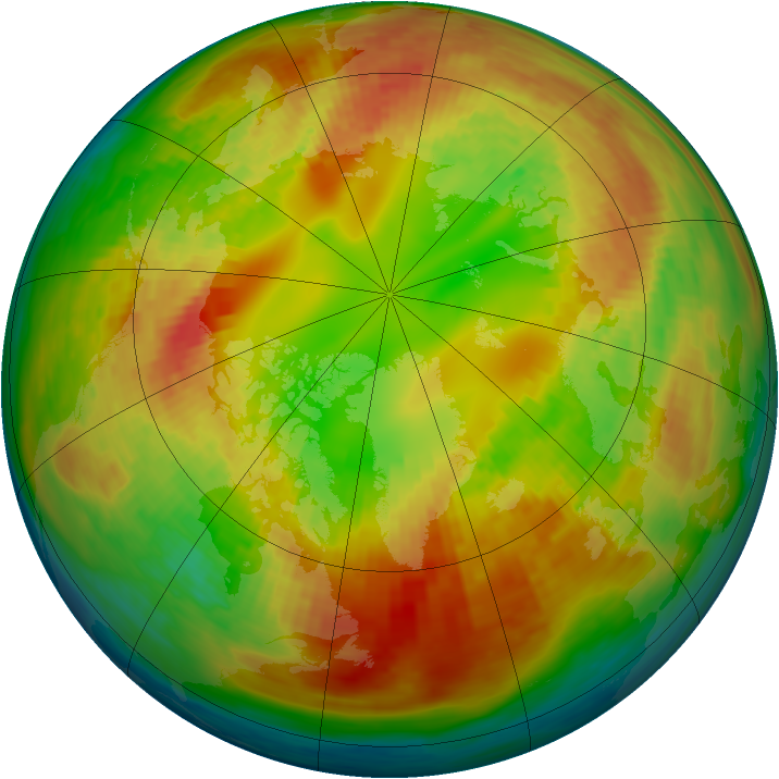 Arctic ozone map for 18 February 1994