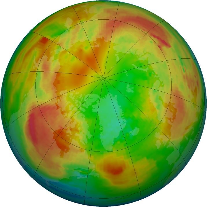 Arctic ozone map for 24 February 1994
