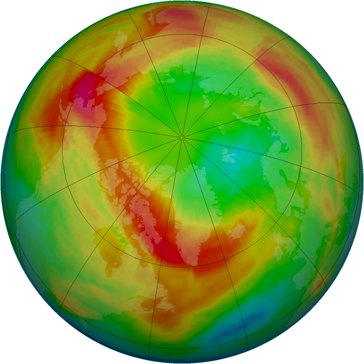 Arctic ozone map for 02 March 1994