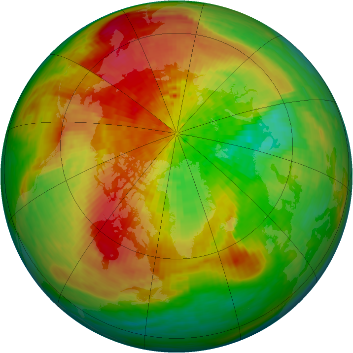 Arctic ozone map for 30 March 1994